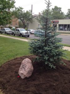 He Was A Great Et To The Community And Will Be Sorely Missed On Memorial Day Weekend With Planting Of This Blue Spruce Tree